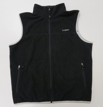 LL Bean Mens Fleece Sweater Vest Large Black - $19.99