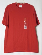 Hanes Men's Heavy Weight 50/50 Cotton/Poly Blend T-Shirt (Deep Red) Size: L - $6.99