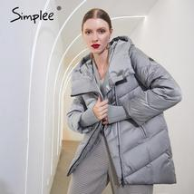 Women's New Style Hooded Solid Casual Short Quilted Puffer Windproof  Parka Coat image 5