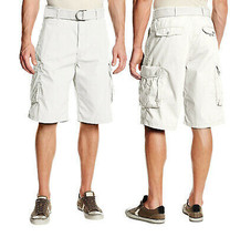 Levi's Men's Cotton Cargo Shorts With Belt Relaxed Fit White 13581-0009 Size 40