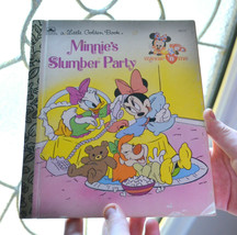 vintage A Little Golden Book Minnie's Slumber Party Children's Book 1990 - £3.77 GBP