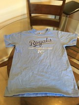 Kansas City Royals MLB Genuine Light Blue T-Shirt Medium Excellent Condition - $9.89