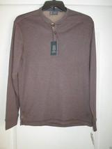 ARROW Crewneck Long Sleeve Men Warm Henley T-Shirt Java Heather S MSRP $... - $21.43