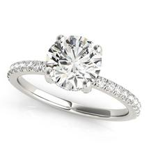 14k White Gold Diamond Engagement Ring with Scalloped Row Band (2 1/4 cttw) - $19,038.47