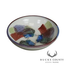 Signed Multicolor Pottery Bowl - $595.00