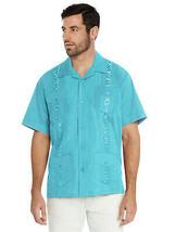 Men's Guayabera Cuban Beach Wedding Casual Short Sleeve Dress Shirt w/ Defect XL