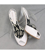 Shoes Gianni Bini Mules White Pumps Size 7.5M - $28.00