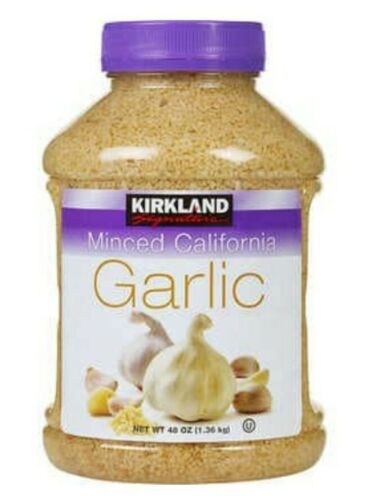 Primary image for Kirkland Garlic Minced California 48 oz Fast Shipping exp 08/2021