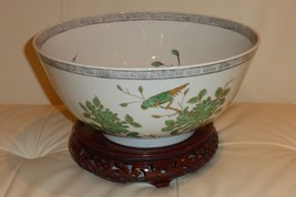 """Oriental Punch Bowl or Centerpiece 5.5"""" H by 12"""" W - $299.00"""