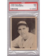 Hank Greenberg 1939 Play Ball #56 PSA 7 NM - $399.00