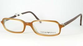 Emporio Armani Ea 612 420 Light Brown /GREEN Eyeglasses Frame 50-16-135mm Italy - $67.32