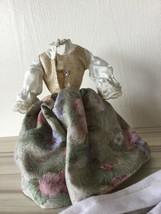BARBIE DOLL SOUND OF MUSIC MARIA FLORAL SKIRT VEST BLOUSE Dress Stockings Slip T image 2
