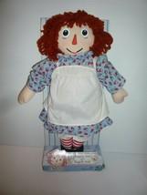 """Vintage 2000 Hasbro Raggedy Ann Doll 16"""" Cloth Doll Mint - $17.82"""