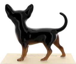 Hagen-Renaker Miniature Ceramic Dog Figurine Chihuahua Pedigree Mama Black image 4