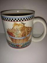 Sakura coffee mug Pine Cone pattern Debbie Mumm 1998 - collectible - cup - tea - $22.76