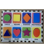 Melissa & Doug 3730 Chunky Puzzle Shapes 12in x 9in - $12.01