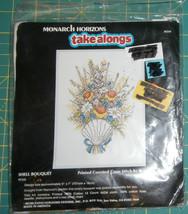 """Shell Bouquet Monarch Horizons Take Along Cross Stitch Unopened 5"""" x 7"""" - $6.89"""