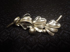 Vintage Designer Signed FORSTNER Sterling Silver Flower/ Leaf Pin/ Brooch - $26.72