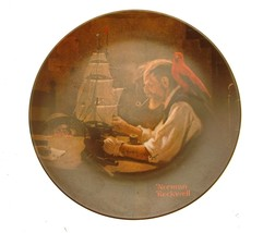 Knowles Rockwell Heritage Collection The Ship Builder Plate JR13 - $31.05