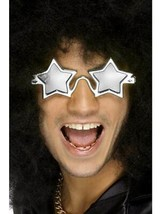 Superstar Shades, Silver Star Frame, 1970'S Disco Fancy Dress, Unisex - $4.28