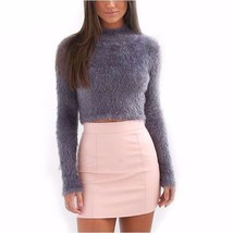 Winter Hairy Turtleneck Full Sleeve Women Sweater Top - $31.66