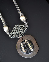 Mother of Pearl Necklace, shell Necklace, Beach, Shell, White Coral (609) - $22.00