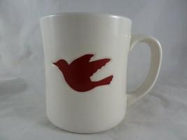 Starbucks Coffee Holiday Christmas Cup Mug white with red Dove 12 oz 2008 - $12.86