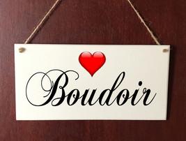 HandMade DELUXE Hanging Plaque Boudoir Heart Bedroom Present Gift Sign - $9.53