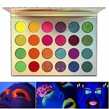 Neon Eyeshadow Glow in the Dark, DE'LANCI Aurora Glow Eyeshadow Palette ... - $18.85