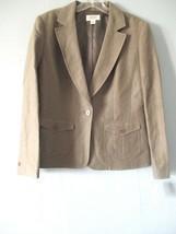 Talbots Women's Sz 4 Silk Linen Olive Fashion Career Blazer MSRP - $168 - $24.20