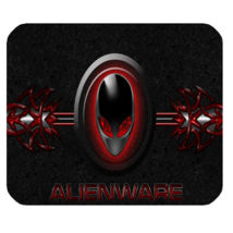 Mouse Pad Alienware Logo Red American Computer Hardware Dell For Game An... - $5.00