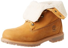 Timberland Women's Teddy Fleece Fold-Down Waterproof Boot Size 6 Colors Wheat - $112.19