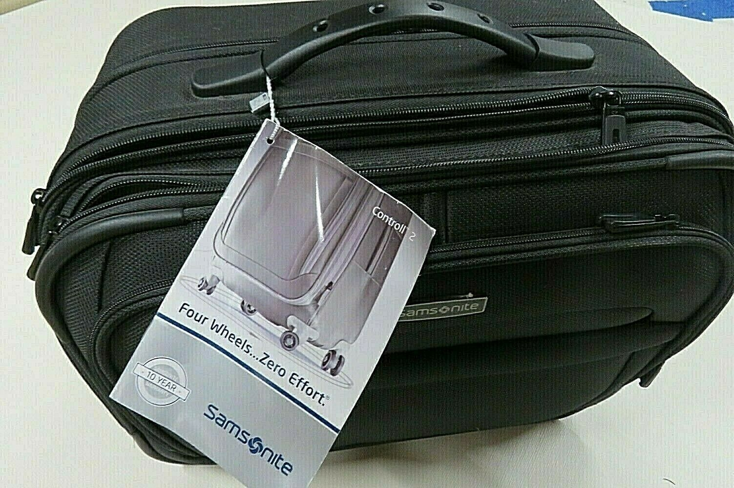 Primary image for Samsonite Black Carry On Travel Rolling Suitcase Control II