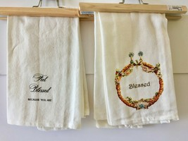 Set of 2 Kitchen Towels-Feel Blessed and Blessed - $7.91
