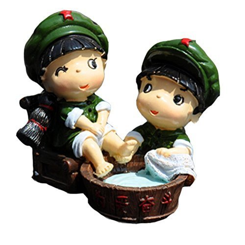 Sweet Couple Car Decorations Resin Auto Interior Ornaments/Trinket,1.91.5''