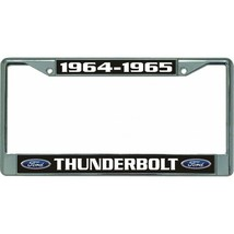 ford thunderbolt 1964-1965 car logo chrome license plate frame usa made - $28.49