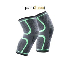 Ship from USA 1 Pair Knee Brace Knee Compression Sleeve Support for Men Women Ru image 2