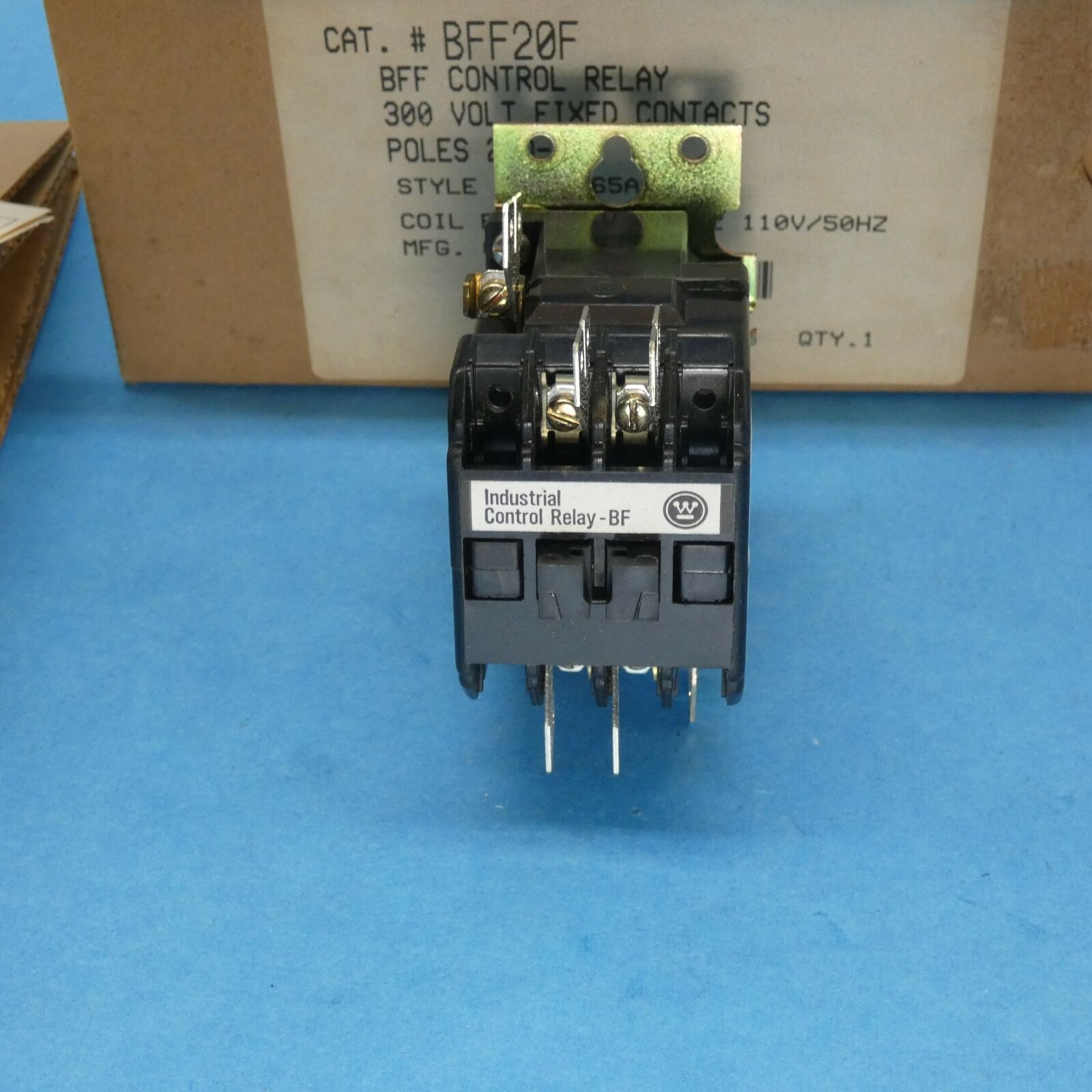 Primary image for Westinghouse BFF20F Control Relay 2 Pole N.O. 10 Amp 300 VAC 120 VAC Coil New