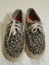 Sperry Top Sider Women's Size 8 M Leopard Animal Print Gray Boat Shoes - $16.73