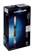 uni-ball Vision Elite Rollerball Pens, Micro Point 0.5mm, Black, 12 Count - $20.82
