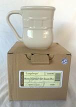 Longaberger Pottery Woven Traditions Ivory Soft Square Mug Set Of 4 NEW - $58.80