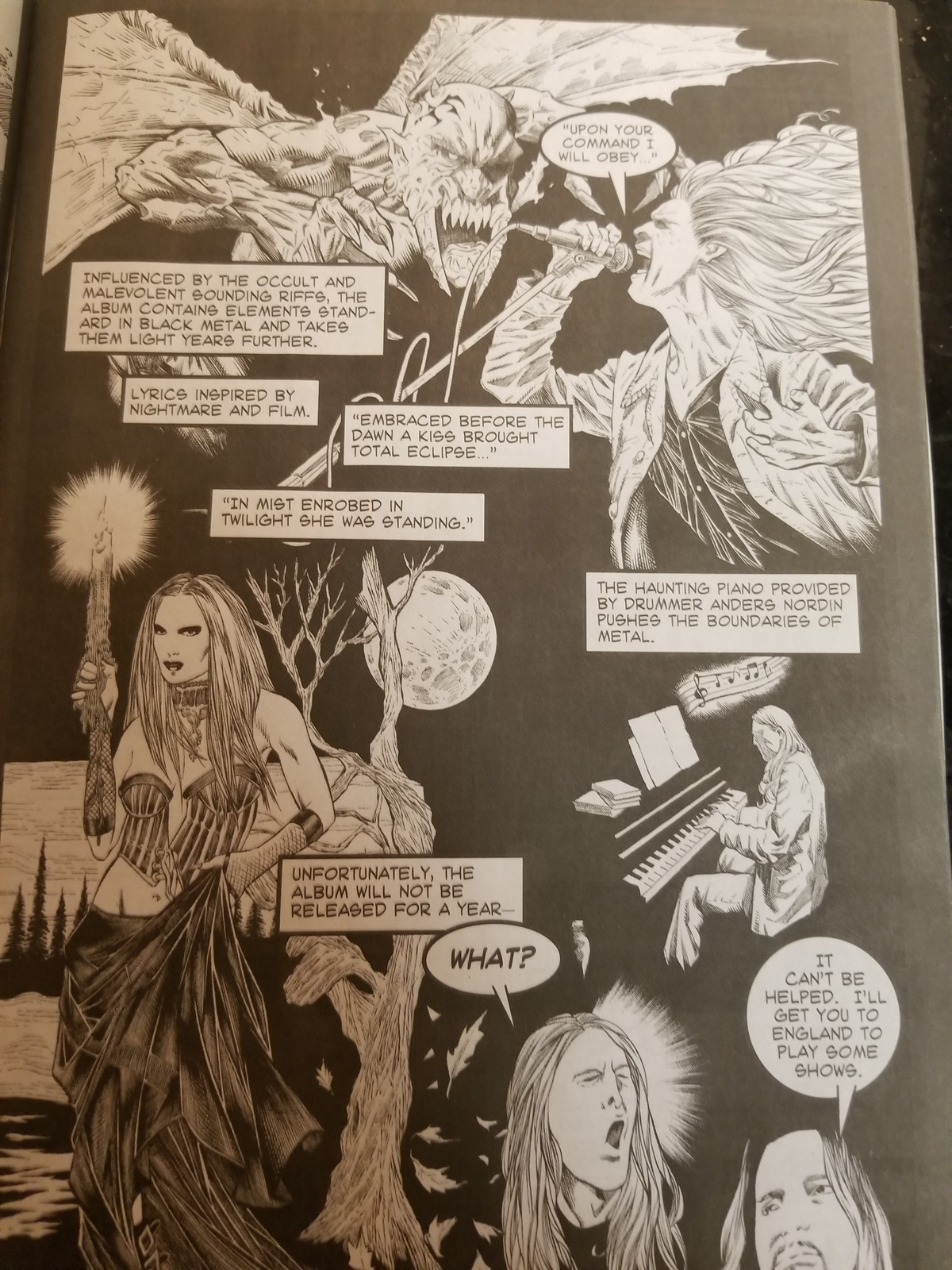 Opeth Comic Book signed by Author