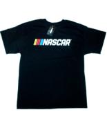 NASCAR New Logo Black Tee Checkered Flag Sports - - $22.50