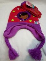 Kid's Children's Disney Doc McStuffins Knitted Laplander Beanie+Mittens-... - $29.69