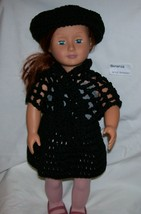 American Girl 3 Piece Outfit, Handmade, Crochet, Hat, Shawl, Skirt, 18 I... - $15.00