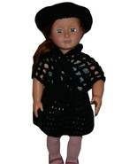 American Girl 3 Piece Outfit, Handmade, Crochet, Hat, Shawl, Skirt, 18 I... - $15.00