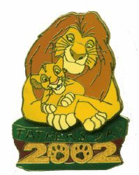 DISNEY Lion King Mufasa & Simba LE pin/PINS
