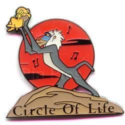 Disney Lion King Rafiki Monkey & Simba rare Pin/Pins