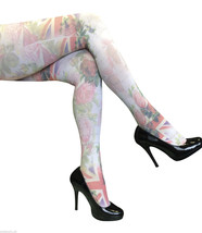 Sock Snob 40 Denier Design Tights One size 8-14 uk, 36-42 eur English Rose - $3.89