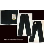 Dickies Genuine Flat Front Slim Fit Flex Pants Black Sz 30 x 32 - $18.99